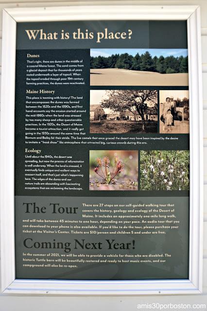 Cartel Informativo del Desierto de Maine en Freeport