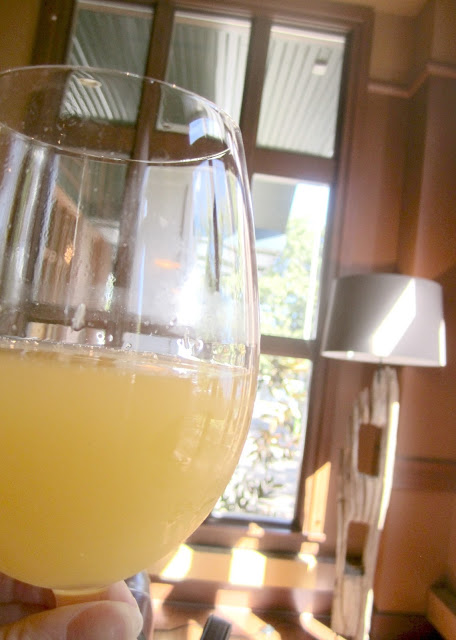 Mimosas for brunch at Three Degrees Portland, Oregon