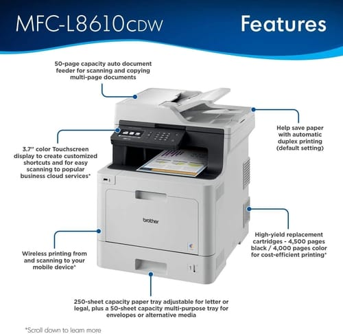 Review Brother MFCL8610CDW Multifunction Laser Printer