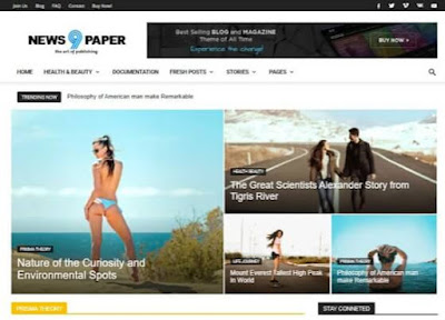 NewsPaper 9 Blogger Template