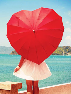 Gift for girl : Heart Shape Umbrella