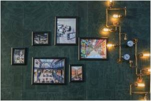 Unusual lighting combined framed photos