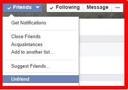 Facebook How to Unfriend