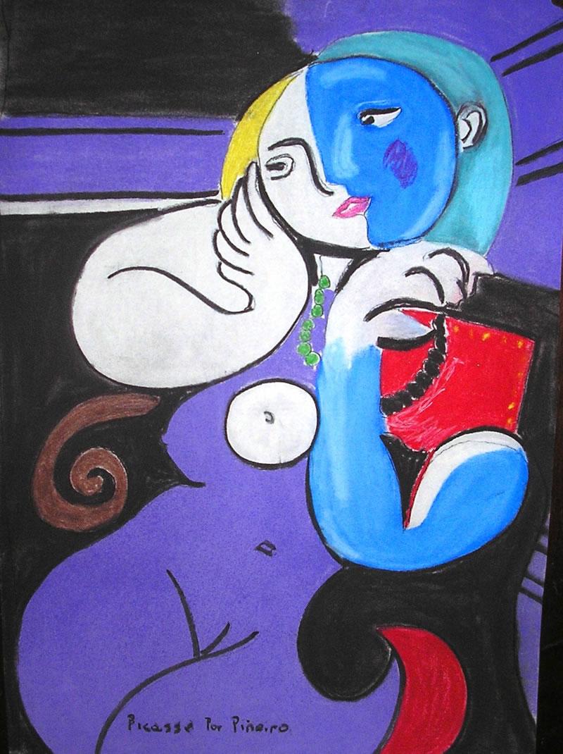 Mujer Desnuda, aceite de Pablo Picasso 1881-1973,