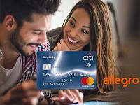 Voucher 400 zł na zakupy w serwisie Allegro w prezencie do karty od Citibanku