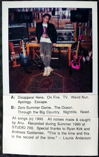 Paste-up used for inside cover of original cassette release