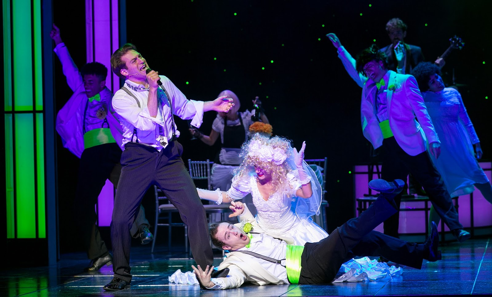 Jon Robyns And The Cast Of Wedding Singer Photo Credit Darren Bell