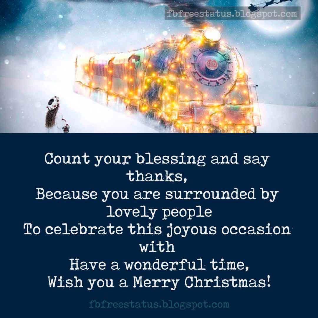 Greeting for Christmas card