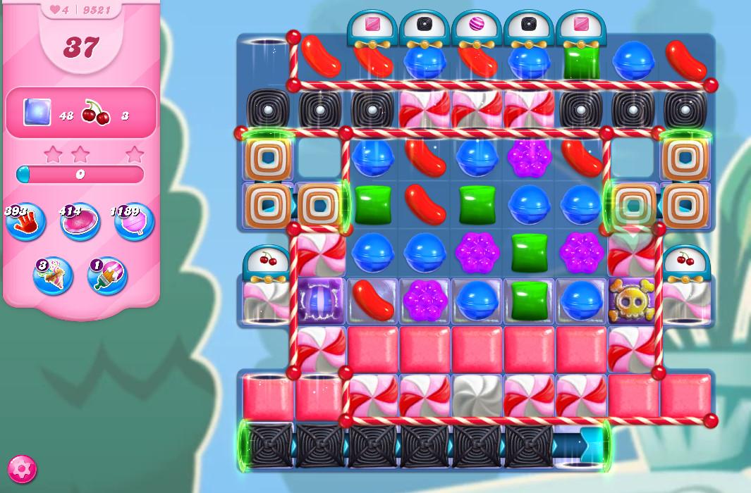 Candy Crush Saga level 9521