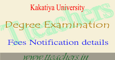 KU degree exam fee last date 2018 1st 2nd final year fees details