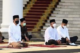 Cegah Penularan Covid 19, Presiden Jokowi Shalat Idul Fitri di Istana Bogor