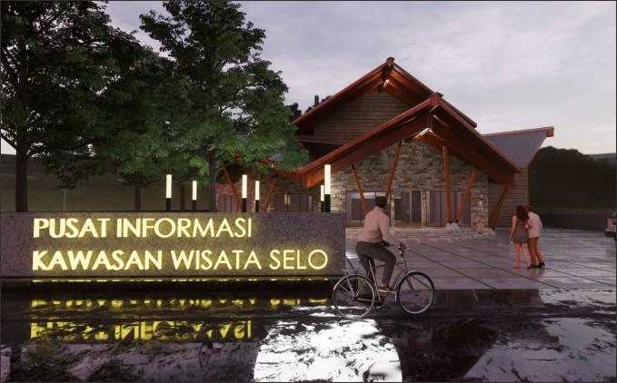 desain bangunan pusat informasi