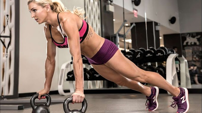Celeb Fitness - WWE DIVA Charlotte takes care of her fitness