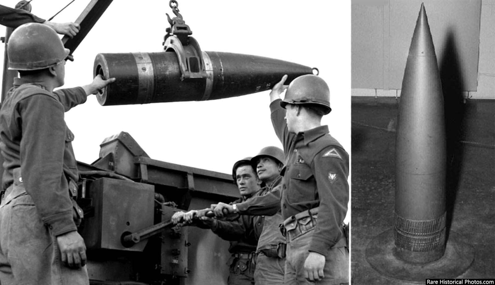 The round (the W9 warhead) was 11-inches wide, 4.5 ft long (13.84 m) and weighed 803-pounds (365 kg).