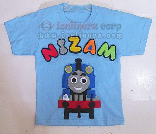 Kaos / Baju Flanel Anak Karakter Kartun Thomas