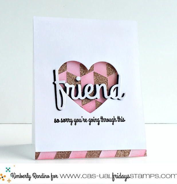 paper crafts | cardmaking |  support | cancer | embossing paste | glitter | friend | clear stamps | cas-ual fridays stamps | kimpletekreativity.blogspot.com | handmade card