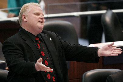Toronto's mayor, Rob Ford