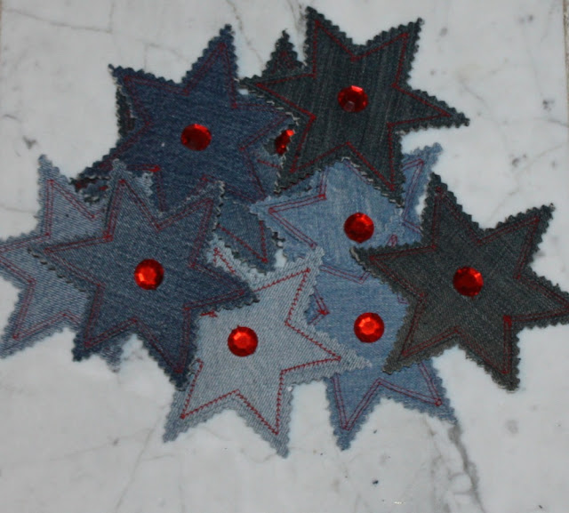 Christmas Jeans Star embellished