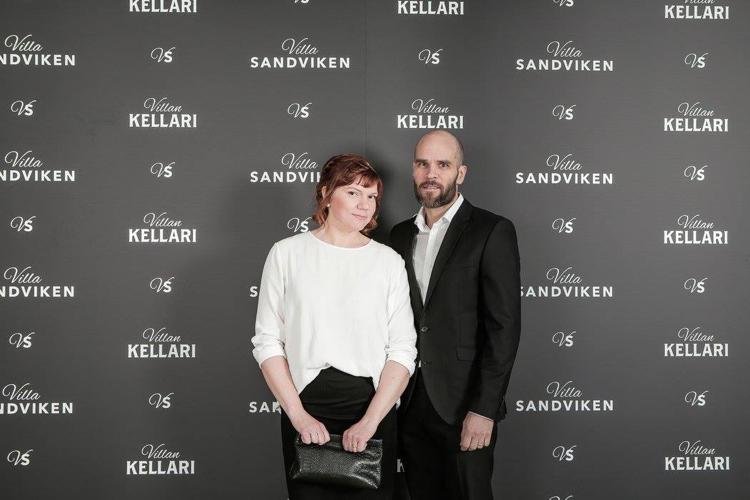 johanna koo ja mies Villa sandvikenin vieraina
