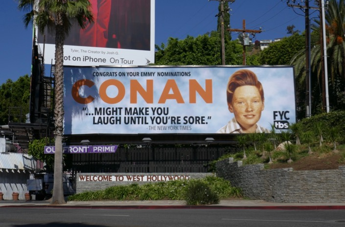 Conan 2019 Emmy nominee billboard