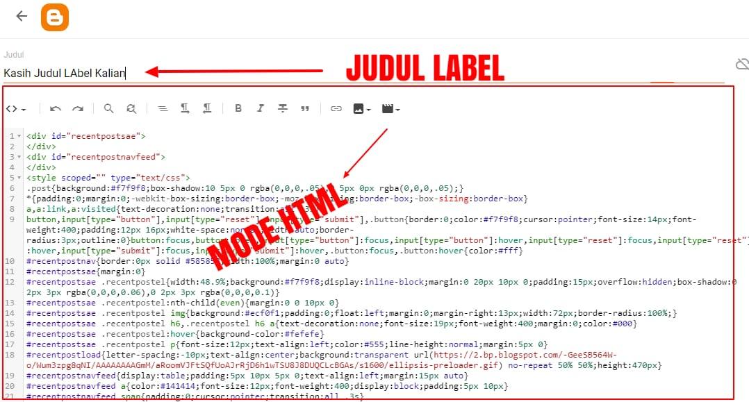 Cara Terbaru Membuat Recent Post By Label Ala Arlina Code