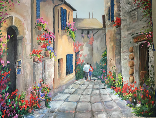 Italy oil painting by Jennifer Beaudet of California