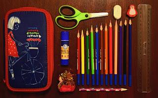 pencils and pencil box