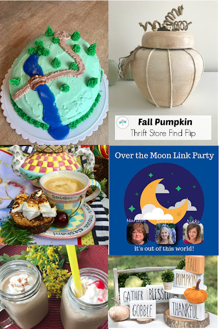Over The Moon Link Party 187. Share NOW DIY, crafts, home decor, recipes with bloggers and readers. Sunday ~ Thursday. 3 hostesses. 5 features. #linkparty #linkparties #OTM #overthemoonlinkyparty #eclecticredbarn