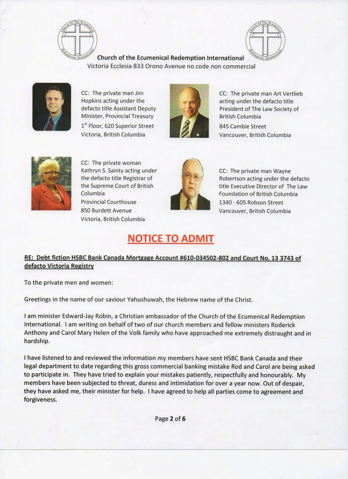 allcreatorsgifts: Church ministers get historical agreement with