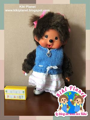 kiki monchhichi top knitting tricot fait main handmade doll poupée clothes