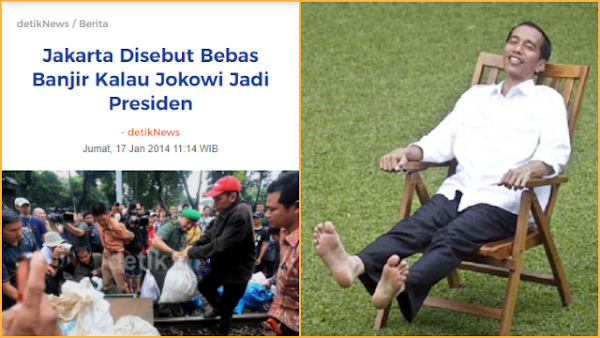 Iwan Sumule: Janji Jokowi Atasi Banjir Jakarta jika Jadi Presiden, 100 Persen Bullshit!