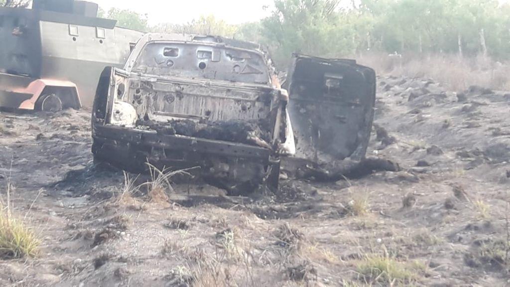 Fotos: Pelotera entre Sicarios deja blindada y varios pistoleros calcinados (otros ejecutados) en Tamaulipas