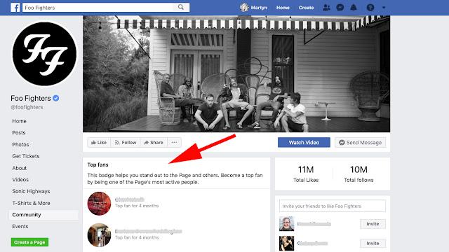 كيفية الحصول على شارة أعلى معجبين في الفيسبوك