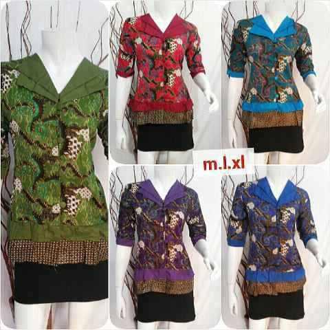 Baju Blus Batik Atasan Wanita Modern Untuk Acara Pesta