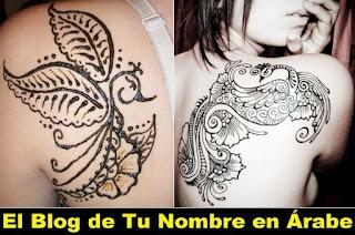 tatuajes de henna con diseño