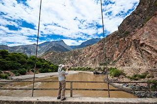 View of the Marañon from the Chacanto bridge - Green Tours Peru