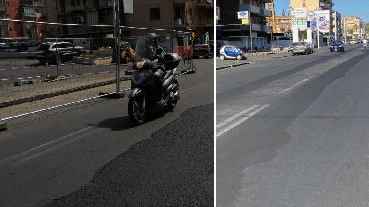 Lavori manto stradale viale Mario Rapisardi
