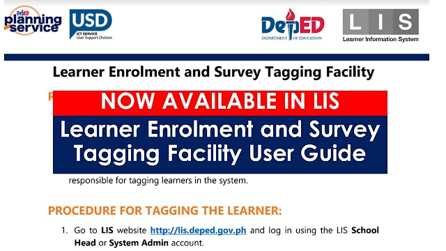Learner Enrolment and Survey Tagging Facility in the LIS is now available
