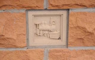 Cheyenne Union Pacific depot museum stone detail
