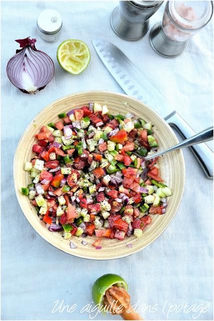 salade-cocncobre-tomate-oignon-poivron-menthe-sumac