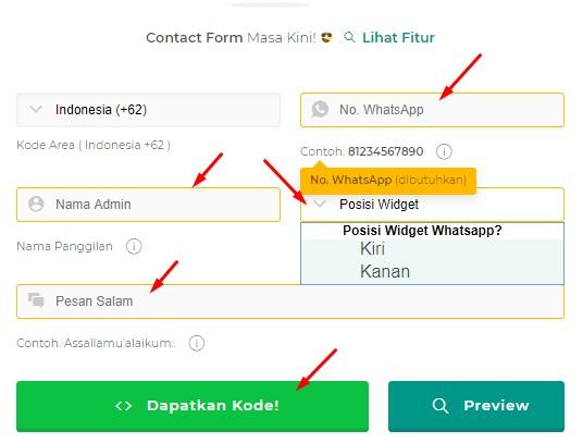 Cara Terbaru Membuat Form Wigdet WhatsApp di Blogger dengan Mudah
