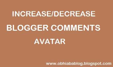 Change Blogger Default Comments Avatar Size 1