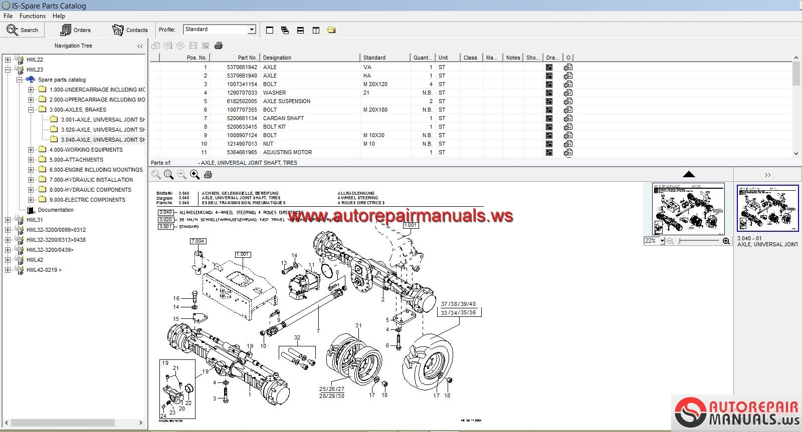 Free Auto Repair Manual Schaeff Terex Parts Catalogue Full