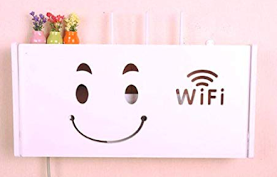 Ss Arts Engineered Wood Wall Mount WiFi Router Holder to Organize your Router and Accessories