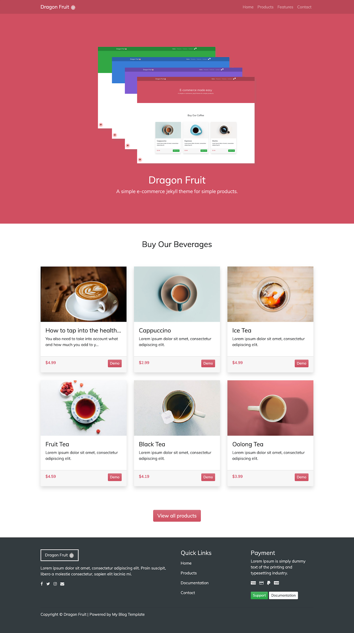 Dragon Fruit template Blogspot