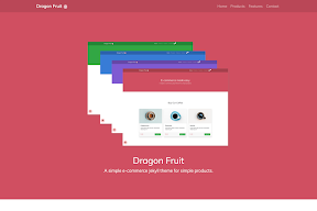 Dragon Fruit template Blogspot