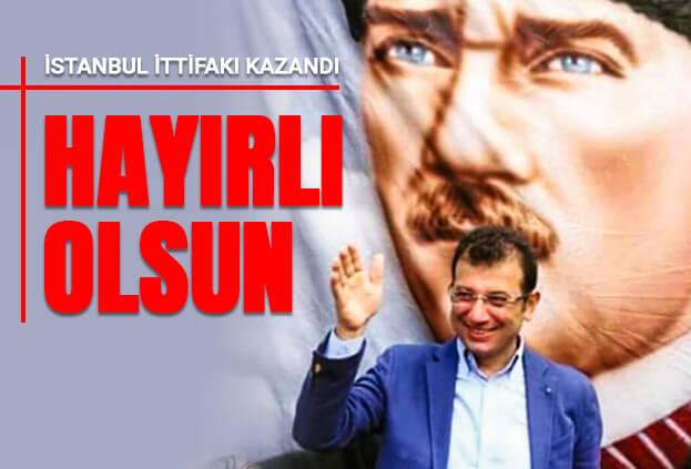 İstanbulun Yeni Başkanı İmamoğlu