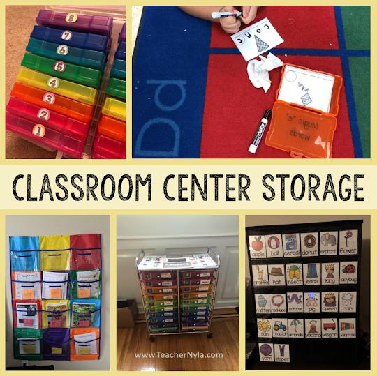 Classroom Center Storage Ideas
