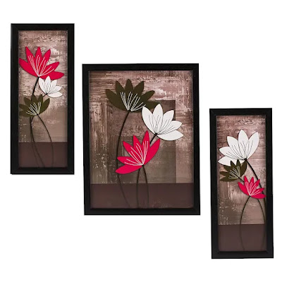 3 Piece Set of Floral Paintings