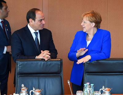 ميركل والسيسي في ألمانيا